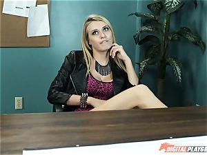 Natalia Starr humps her prospective manager