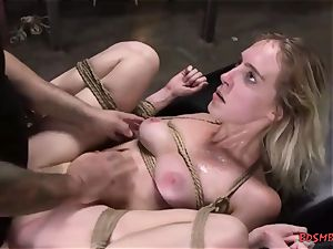 light-haired cutie gets pummeled firm in bondage