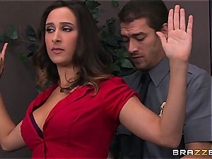 Ashley Adams gets poked by 2 cops