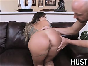 inked and big-chested Payton Sinclaire fed spunk after fuckin'