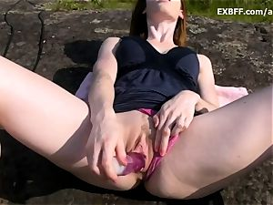 fledgling pov outdoor blowage gags and he ejaculations