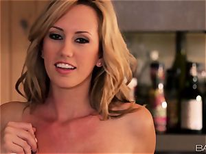 Brett Rossi enjoys food and poon fun in the kitchen