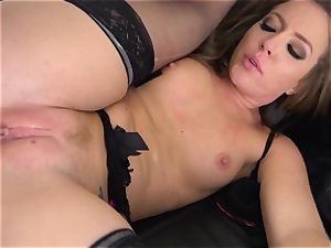 Maddy OReilly wedged full in her lingerie