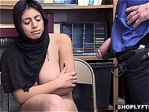big jugged hijab nubile gets a facial cumshot in the shop backoffice