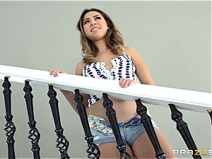 Melissa Moore gets super-fucking-hot and messy with the removal man