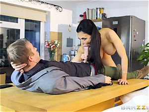 Aletta Ocean getting pummelled by Danny D's humungous beef whistle