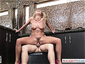 wringing Carter's pierced tits