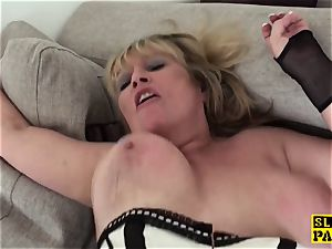 abased uk granny submits to male domination